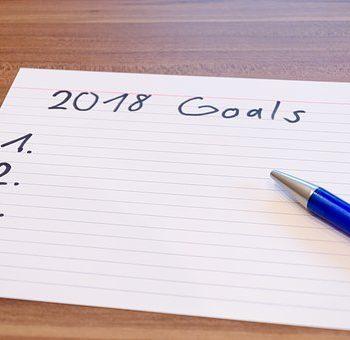 où en êtes-vous dans vos objectifs pour 2018